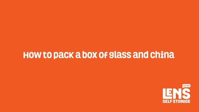 How to pack a box of glass and china
